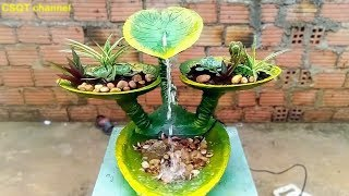 CSQT 💚 DIY Waterfalls - flower pots from tree leaves // home decoration ideas