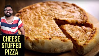 Pizza Recipe  How To Make Cheese Stuffed Crust Pizza  Nick Sarafs Foodlog