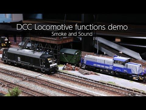 DCC Locomotive Functions Demo / Smoke And Sound - VLOG46