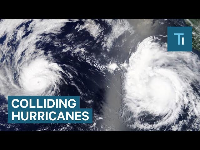 Heres what happens when two hurricanes collide