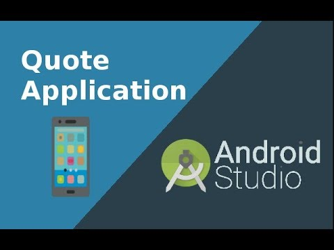 how to program android quote app part 1 layout design youtube