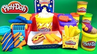 Play Doh Poppin' Movie Snacks Popcorn Play Doh Movie Treats Popsicle Hot Dog Fries Ice Cream