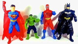 Superman, Hulk, Spiderman and Batman Fighting for Kids! WHO WINS?