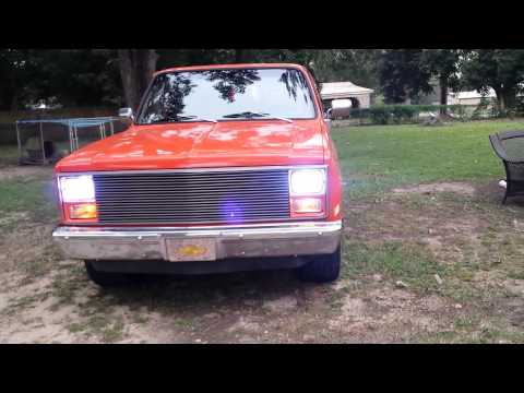 chevy c10 with Angel eye's headlights thumbnail