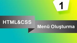 HTML & CSS ile Yatay Menü Yapımı Cascading Drop down Navigation Menu