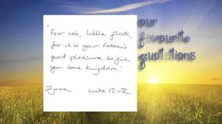 Our favourite Bible quotations
