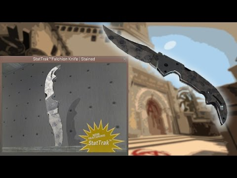 ★ Falchion Knife | Stained | In-Game Preview