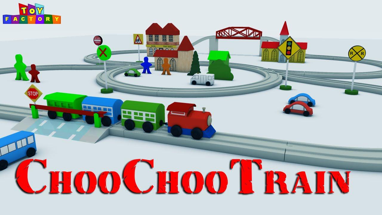 963a3b5d83c1 Choo Choo Train - Toy Train videos - Train videos for Kids - Toy Factory  Cartoon - JCB