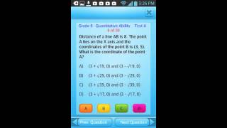 Video QVprep 9th grade App for maths (quantitative) english (verbal) test prep for ninth grade 9
