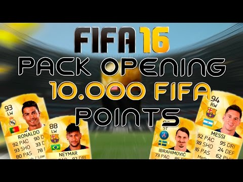FIFA 16 UT - PACK OPENING - 10.000 FIFA POINTS - 87 RATED PLAYER :D