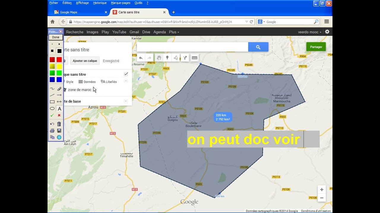 comment cr er une carte sur google maps youtube. Black Bedroom Furniture Sets. Home Design Ideas
