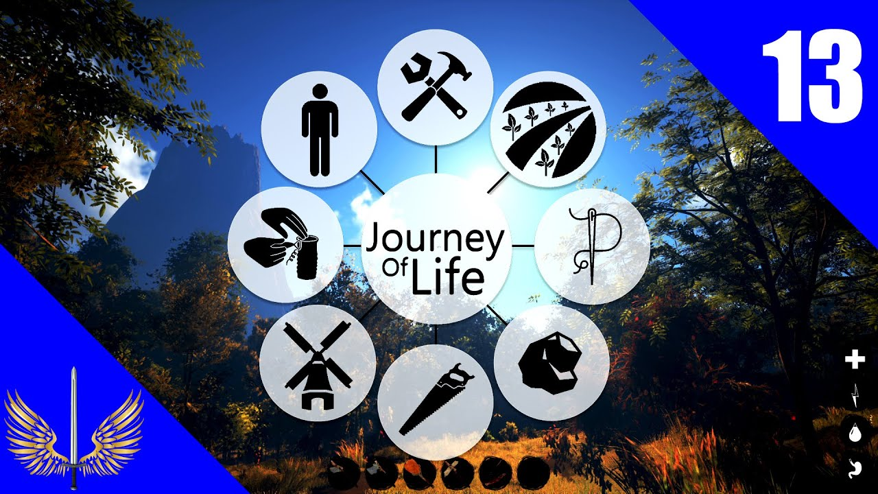 Journey of Life - Early Access - Episode 13 - Stone Dock and Raised Bed Garden