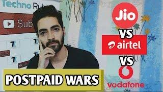 JIO Vs Airtel Vs Vodafone - Rs 499 Postpaid Plans