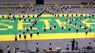 福岡の精華女子高等学校の体育祭で行われたブラスバンドのマーチングパ...