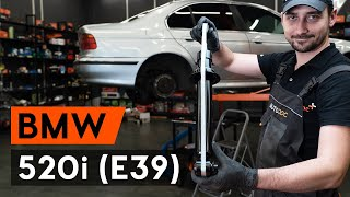 How to replace Brake caliper carrier on BMW 5 (E39) - video tutorial