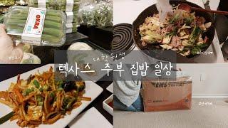 미국일상 VLOG |  한국에서 온 택배 언박싱 | 미…