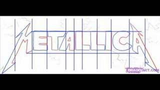 how to draw the metallica letters