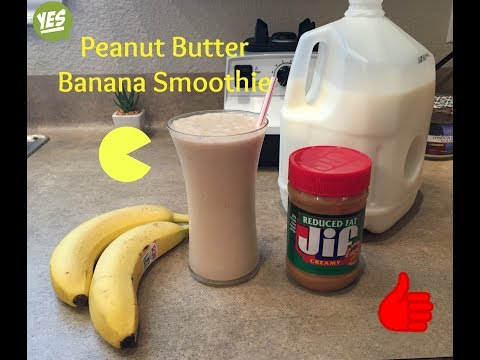 How To Make A Peanut Butter Banana Smoothie | The BEST!