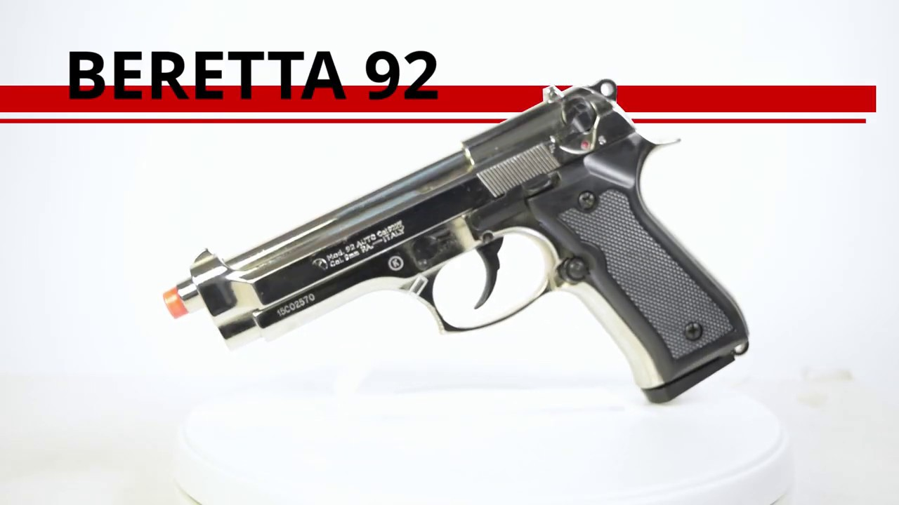 Beretta 92F Blank-Firing Semi-Auto Pistol - Front Fire - Blued Finish
