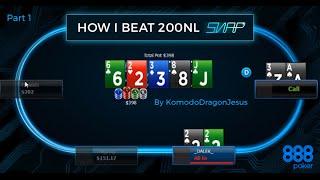 How I Beat Poker: 888 $200nl SNAP