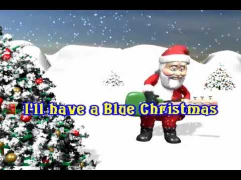 Elvis Presley - Blue Christmas KARAOKE