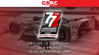 Lionheart IndyCar Series - 2016 Round 13 - Sonoma