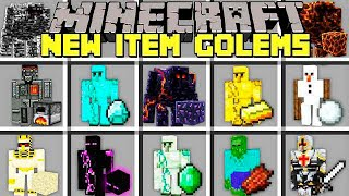 Minecraft NEW ITEM GOLEMS l CRAFT NEW GOLEMS TO PROTECT YOU! l Modded Mini-Game