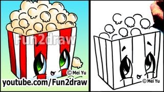 Movie Popcorn - How to Draw Toons (Easy Cartoon Art Lesson)
