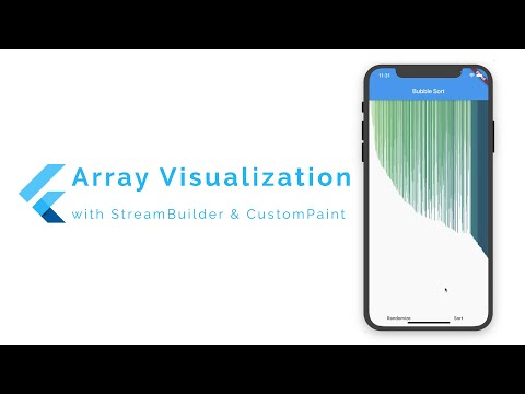 Array Visualization using StreamBuilder and CustomPaint