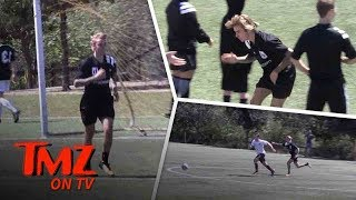 Justin Bieber Plays in Soccer Match With God  TMZ TV
