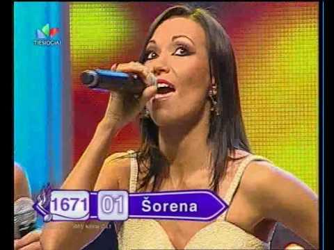 Shorena from Georgia in Lithuanian music show