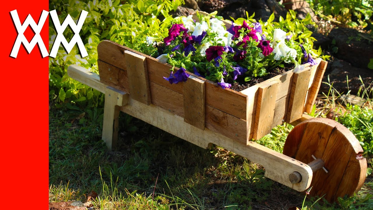 Make A Rustic Wheelbarrow Garden Planter. Easy DIY Weekend Project.    YouTube