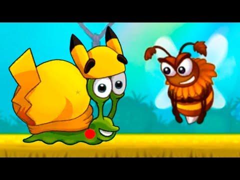 УЛИТКА БОБ 3 и Кид #7 ПИКАЧУ и ДЖЕНТЛЬМЕН Snail Bob против гусеницы на детском канале пурумчата