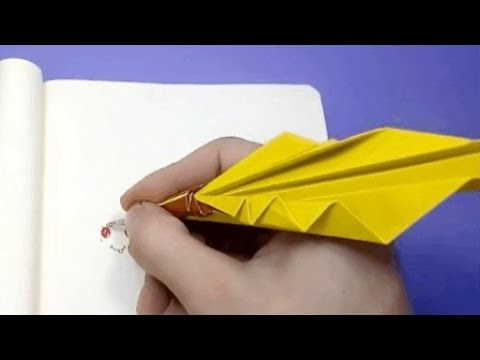 How to make an Origami Quill Pen | DIY paper crafts | Easy Origami step by step Tutorial