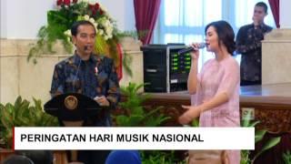 Raisa Minta Sepeda ke Jokowi Saat Presiden Jokowi Cari Raisa di Peringatan Hari Musik Nasional