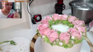 Оформление торта БЗК кремом Торт на День Рождения Танинторт