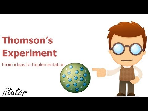 √ Thomson's Experiment - From Ideas to Implementation | iitutor