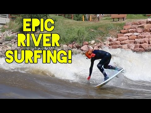 River Surfing in Colorado