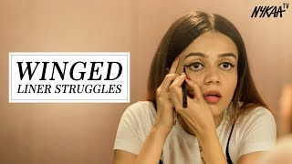 Everyday Struggles To Get The Perfect Winged Liner | Komal Pandey thumbnail