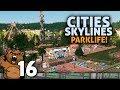 O primeiro trem de passageiros | #16 Cities Skylines Parklife - Gameplay Português PT-BR