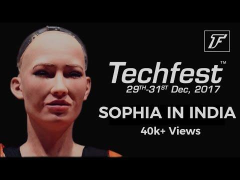 Sophia | World's first Humanoid Robot | Techfest IIT Bombay