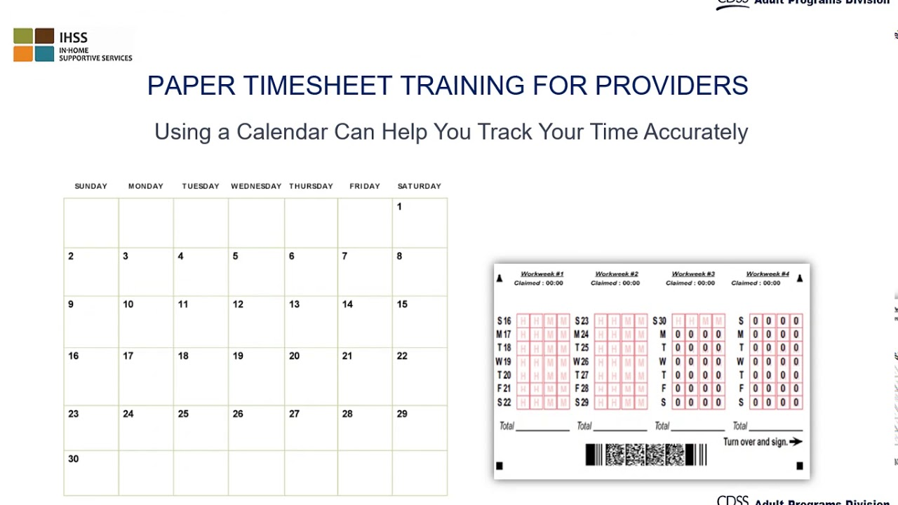 lesson 1 paper timesheet training