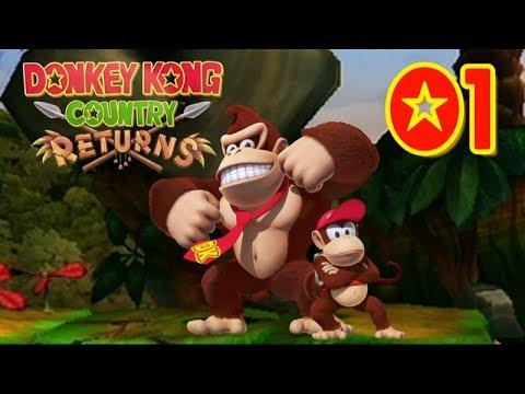 Donkey Kong Country Returns - Let's Play en Español / 1-1 Jungla escandalosa