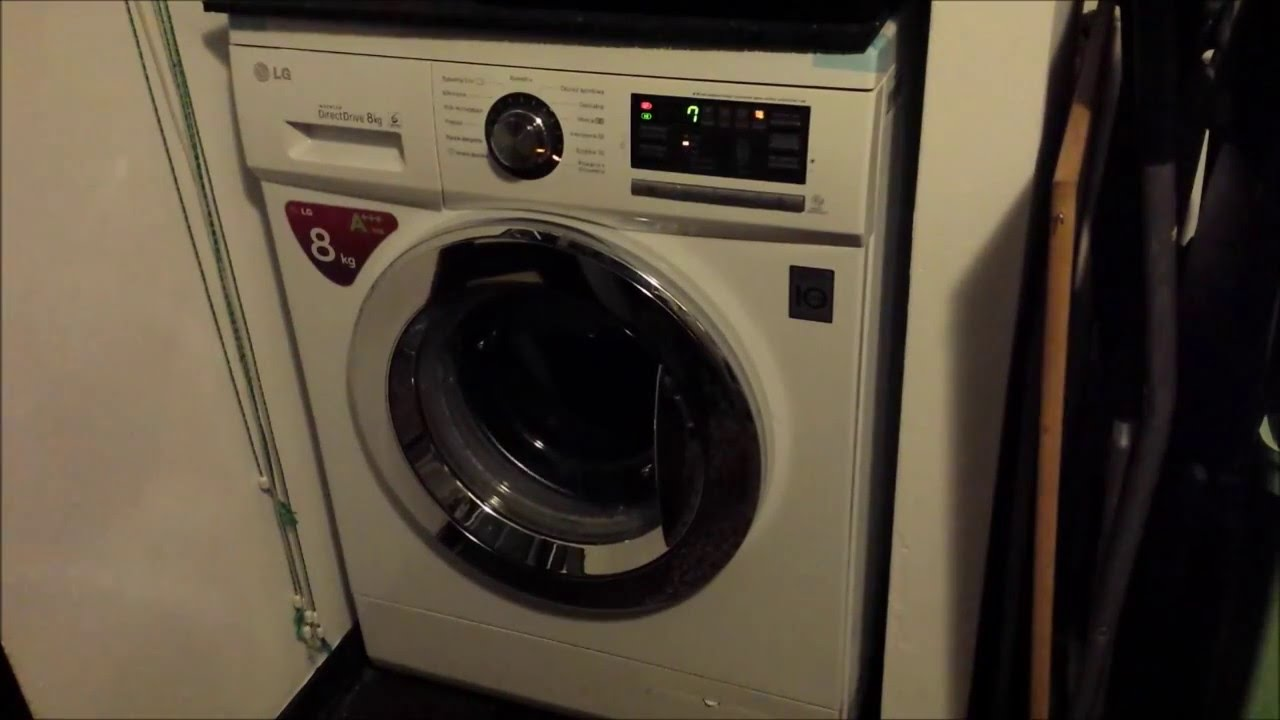 pralka lg f1496td direct drive szybkie 30 youtube. Black Bedroom Furniture Sets. Home Design Ideas