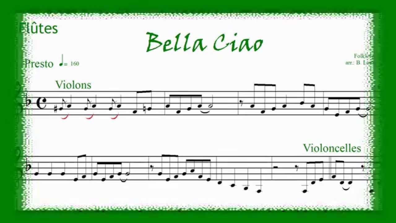 partition flute a bec bella ciao