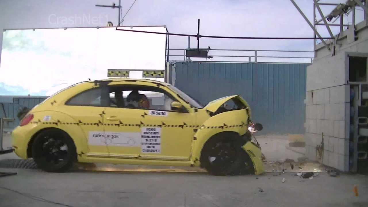 Vw Beetle Test >> VW Beetle | 2013 | Frontal Crash Test | NHTSA | CrashNet1 - YouTube