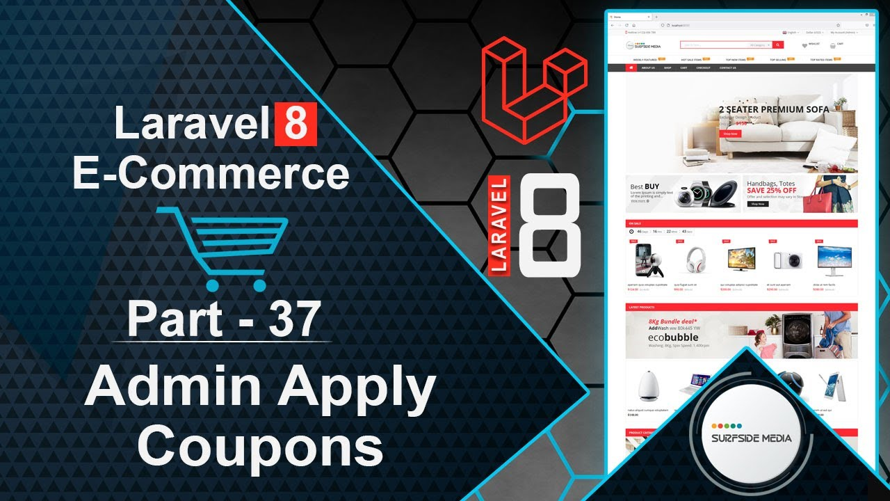Laravel 8 E-Commerce - Admin Apply Coupons