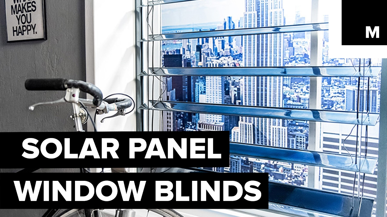 Solar Panel Window Blinds Youtube