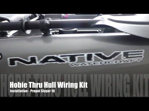 Hobie Thru Hull Wiring Kit Install - YouTube on