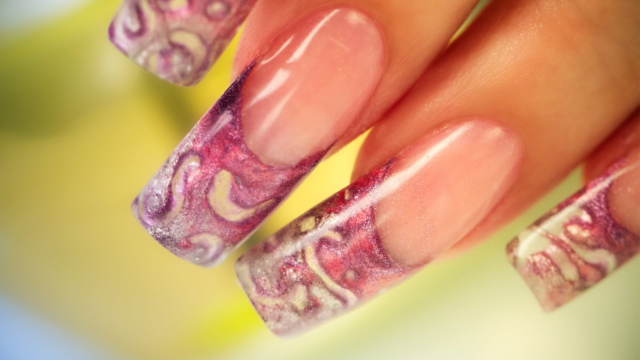 3d encapsulated acrylic nails step by step tutorial youtube prinsesfo Gallery